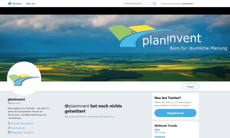 planinvent jetzt auch bei Twitter